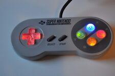 """Original - SNES - Controller - Mod - """"light buttons"""" - guter-Zustand"""