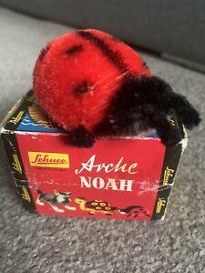 "Vintage 1950s Schuco 7348 Miniature 3"" Long Noahs Ark Mohair Ladybug W/BOX !"