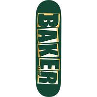 "Baker Skateboard Deck Peterson Brand Name Green/Foil 8.0"" x 31.5"""