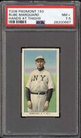 Rare 1909-11 T206 HOF Rube Marquard Hands At Thighs Piedmont 150 PSA 7.5 NM +