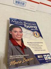 Mavis Beacon Teaches Typing MINT DISC Deluxe Big Box Vintage Never Used