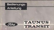 FORD TAUNUS TRANSIT 1963 Betriebsanleitung Bedienungsanleitung  Handbuch BA