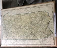 Original/Vintage Antique Map Of Pennsylvania, 1930
