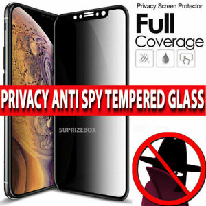PRIVACY Tempered Glass Screen Protector For iPhone 12,11,Pro Max,13,X FULL Cover