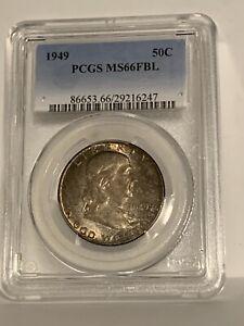 1949 PCGS MS66FBL Franklin Half Dollar Silver 50C