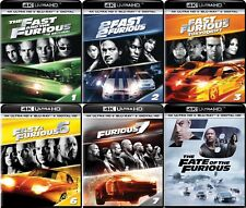 Fast and the Furious 1,2,3,6,7,8 (6 Movies)(4K Ultra HD)(UHD)(DTS:X)(Oct 2)