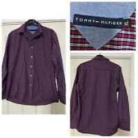 Tommy Hilfiger Red Shirt Checked Long Sleeve Size XL Mens (B512)