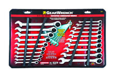 GearWrench  12 Point Metric and SAE  Ratcheting Combination Wrench Set  20 pc.