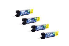 Pack of 4 E-Flite 150mah 1s 3.7v 25c Lipo Battery e flite Hobbyzone Sport Cub S