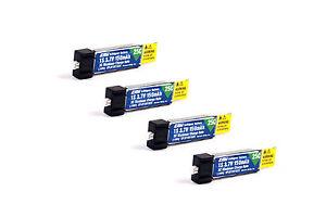 Pack of 4 150mah 1s 3.7v 25c Lipo Battery for E-Flite Hobbyzone Sport Cub S