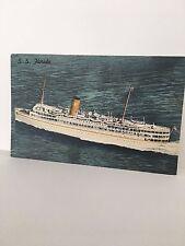 MIAMI FL SS Florida Nassau Cruise Ship P&O Steamship Co.  postcard