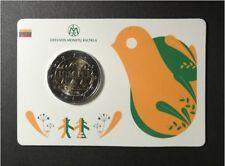 Litauen 2 Euro 2018 Song and Dance Celebration  UNC coin card unofficial