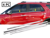 Polished Stainless Steel Chrome Window Sill Trims Fit 2011-2017 Ford Explorer