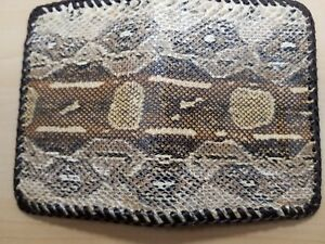 NEW Authentic BOA SNAKE Skin Handmade MILLENNIAL Credit Business Card ID wallet