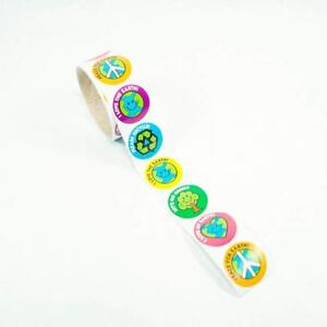 100 - Save the Earth Roll Stickers - Day Green Trees Saving Ocean Land School