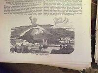 74-8 ephemera 1834 original picture the phlegraean fields