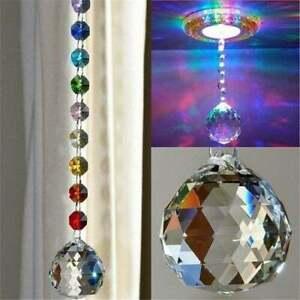 Crystal Ball Suncatcher Prisms Pendant Pendulum