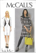 UNCUT McCall's sewing pattern ladies 7469 fitted dress seam detail pockets F/F