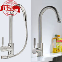 Kitchen Tap With Pull Out Hose Monobloc Sink Mixer Chrome or Brushed Steel