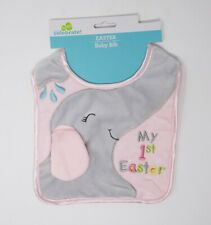 Easter Cloth Baby Bib - My 1st Easter Elephant