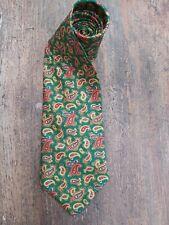 Vintage GIVENCHY Silk Tie. Mens Neck Tie. Retro Green Paisley Design.