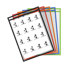 10 Thornton's Suministros De Oficina Reutilizable bolsillos de borrado en seco, 9 X 12 Colores Surtidos