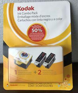Kodak Ink Combo Pack 10 Series 1 Color Ink Cartridge 2 Black Cartridge Expired