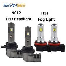 For Lincoln MKX 2011-2015 4PCS Combo 9012 H11 LED Headlight Fog Light Bulb White