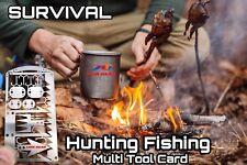 EDC 24-1 Hunting Fishing Wilderness Survival Card Tool Snare Locks Hooks