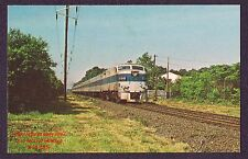 LMH Postcard  LONG ISLAND Railroad LIRR Alco FA #601 Passenger St. James NY 1971