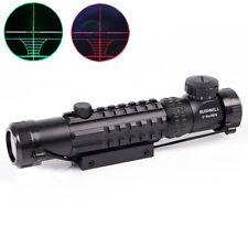 Hot Rifle Scope 3-9X32EG Crosshair Red/Green Sight fit 20 rail Mount Hunting