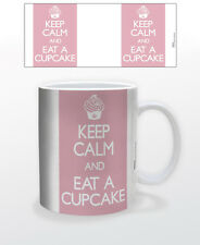 KEEP CALM & EAT A CUPCAKE 11 OZ COFFEE MUG TEA CUP SUGAR CAKES KITCHEN QUOTE USA
