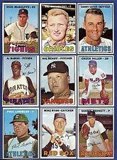 1967 Topps Baseball Starter Set 9 Different Cards (157-227) EX+/EX-MT+