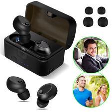 True Wireless Twins Bluetooth Earbuds In-Ear Stereo Earphones Headset W/ Case