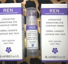 REN Set of 2 Lipovector Anti-Aging & Smoothing Eye Contour Cream- Boxed