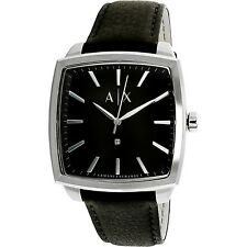 Armani Exchange Men's Diamond AX2362 Black Leather Quartz Dress Watch