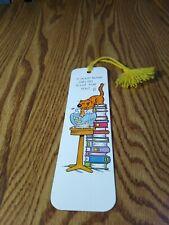 Vintage 1983 Hallmark Bookmark W/Tassel - Heathcliff - Funny!