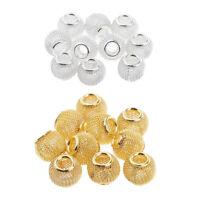 10 Stück Aushöhlen Metallperlen Spacer Perlen Zwischenperlen Für Schmuck