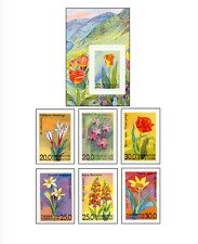 UZB9301 Flowers 6 stamps and block