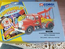 Corgi no. 97886 Scammell Highwayman With Crane - Chipperfield's Circus - BNIB