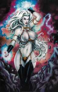 Lady Death Lingerie Print, Art by Al & Cara (11x17) - Comic Art