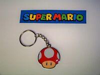 Mario Bros Keychain Mushroom metal red FREE shipping!