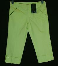 "Bnwt Women's Oakley 3/4 Cropped Capri Jeans Stretch Trousers UK8 W25"" Midori"