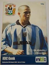 Coventry City v KRC Genk Friendly 2000/01