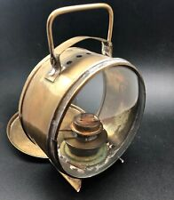 Vintage Brass Oil Lamp small 5 inches tall plus handle. Free standing for table