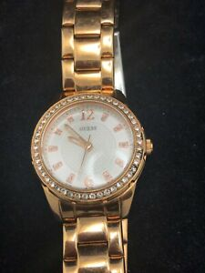 GUESS WATERPRO U0445L3 GOLDTONE LADIES WATCH with RHINESTONE ACCENTS