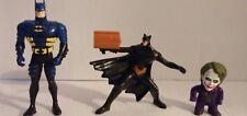 Warner Brothers DC Batman & Joker Action  Figure Cake Toppers Lot of 3