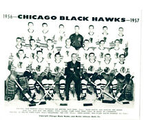 1956 1957 CHICAGO BLACK HAWKS 8X10 TEAM PHOTO NHL HOCKEY  HOF USA