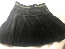 Children's Place Black Velvet Skort Size 6X-7