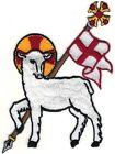 "4.5"" x 3.25"" Agnus Dei Easter Lamb Christian Design SCA"